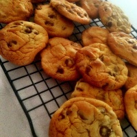 Salted Bittersweet Chocolate Chip Cookies